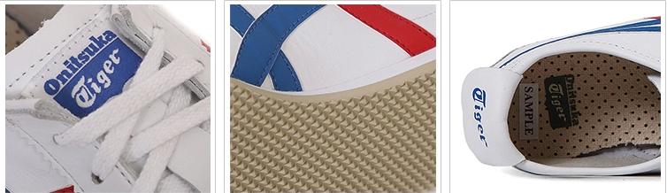【经典】鬼塚虎MEXICO66系列红白蓝轻便舒适中性运动休闲鞋 THL202-0146