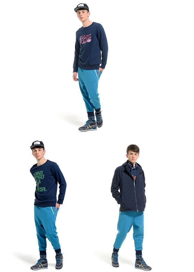 【2014年秋季新品】Onitsuka Tiger/鬼冢虎男女运动休闲针织长裤 OKP243