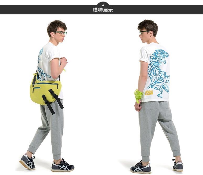 【2014年秋季新品】Onitsuka Tiger/鬼冢虎经典短袖印花T恤POLO衫 OKT475
