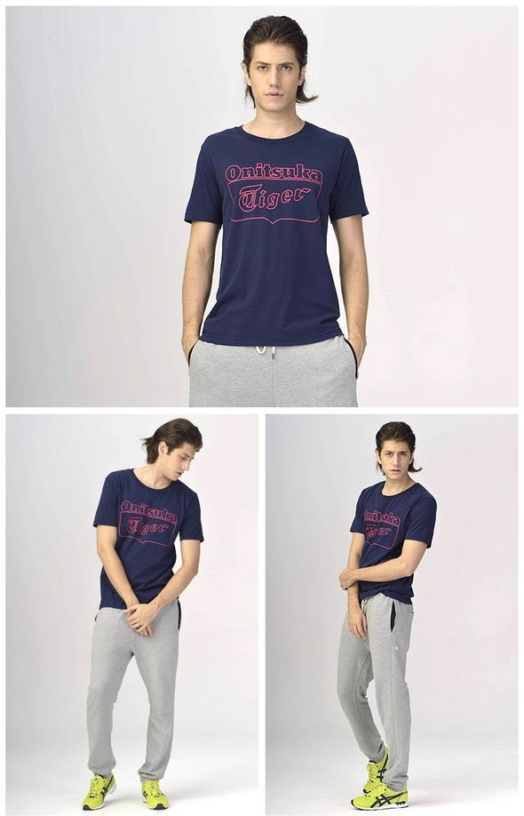 Onitsuka Tiger/鬼冢虎LOGO印花运动T恤 男女通用多色款POLO衫 OKT460