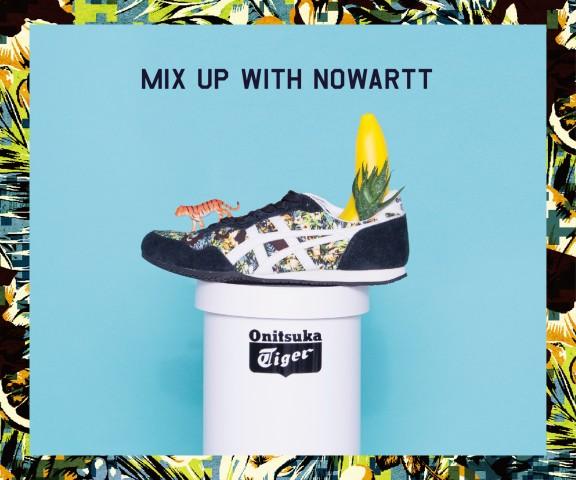 """图绘纺织品牌""""nowartt""""一起打造的联名鞋款14AW的第二弹开始发售"""