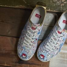 备受关注的早春花鸟为主题的联名运动鞋款