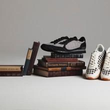 鬼冢虎传统格子花纹的秋冬运动鞋